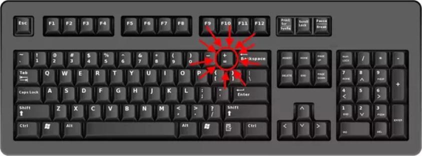Нижнее подчеркивание на клавиатуре