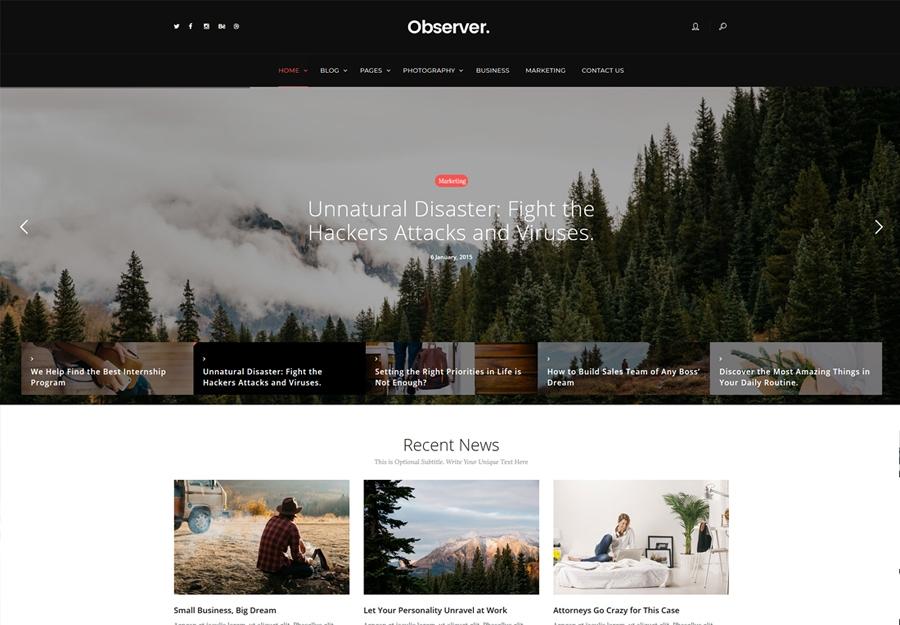 Daily Observer - A Modern Magazine & News Portal WordPress Theme