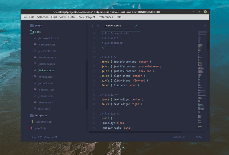 Material UI Theme for Sublime Text