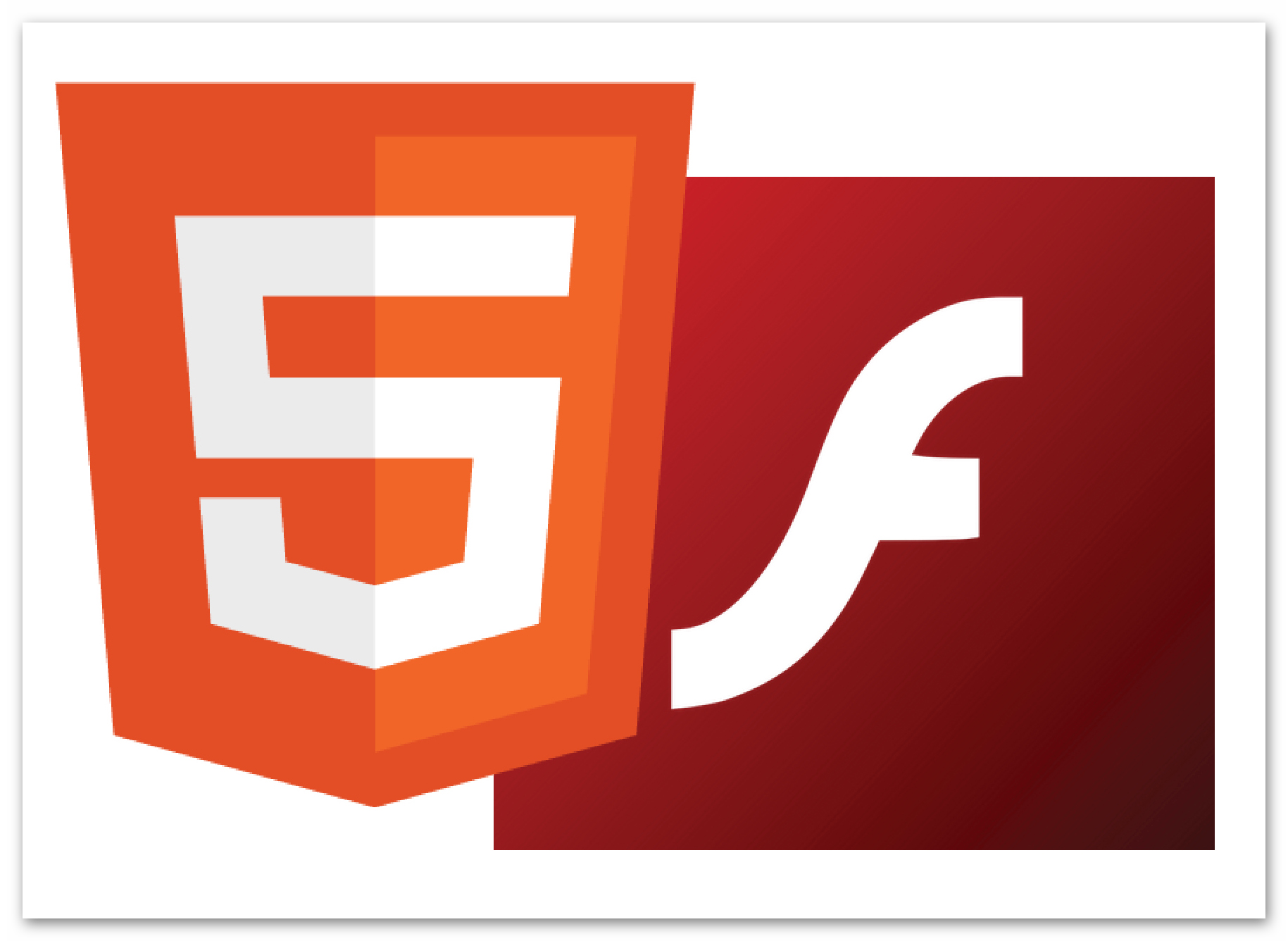 Картинка HTML5 и Adobe Flash Player