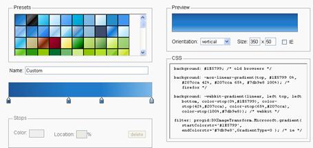 ColorZilla's Ultimate CSS Gradient Generator