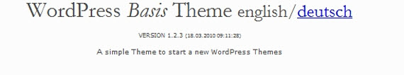 WordPress Basis Theme
