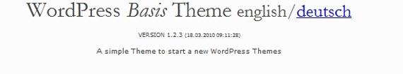 WordPress Basis Theme