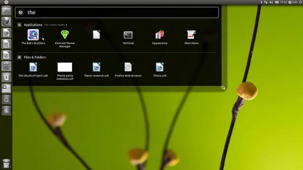Ubuntu Linux 11.04 -интерфейс Natty Narwhal