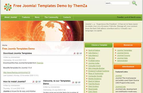 Бесплатные темы для Joomla
