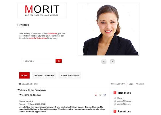Бесплатные темы для Joomla - Morit