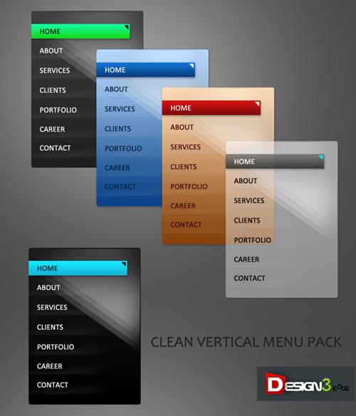 Clean Vertical Menu Pack