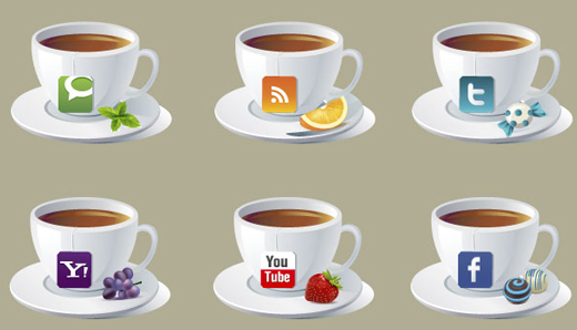 Brand New Social Icons ~ Teacups