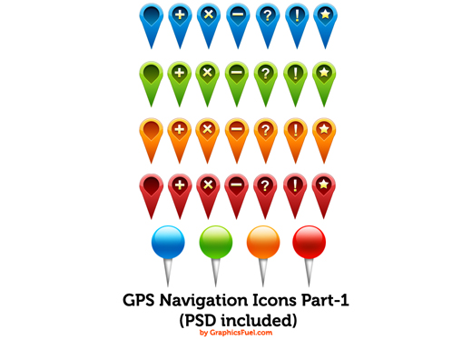 GPS navigation icons Part-1
