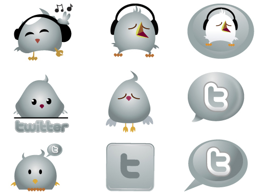 Cute Twitter Icons ~ Chrome