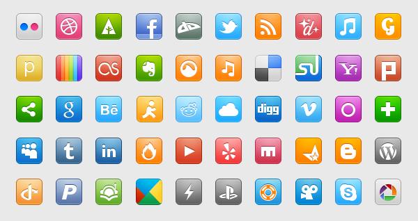 Бесплатные иконки соцальных медиа